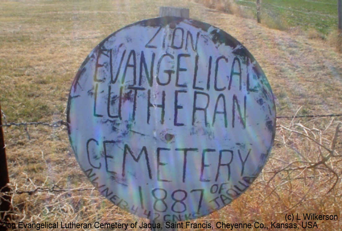 Zion Evangelical Lutheran Cemetery of Jaqua